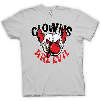 Mens T-shirt - Clowns Are Evil - Funny