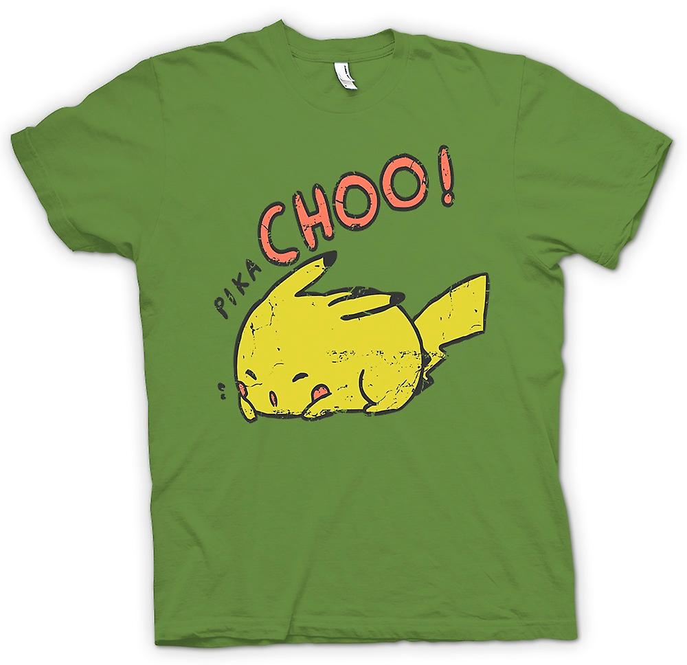Mens T-shirt - Pika Choo - Pikachu Pokemon Inspired