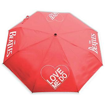 The Beatles Umbrella Love Me Do Band Logo With Retractable Fitting new Official