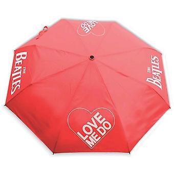 The Beatles Umbrella Love Me Do Band Logo With Retractable Fitting nouveau officiel