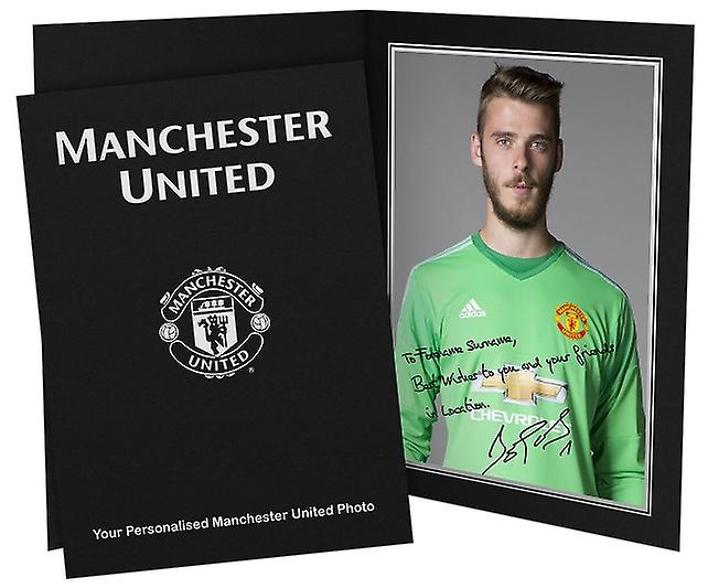 Manchester United Personalised Autographed Photo - David de Gea