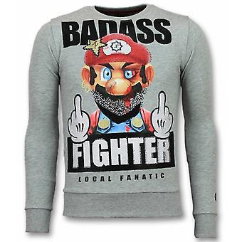 Mario sweater-Fight Club men's sweatshirt-grey