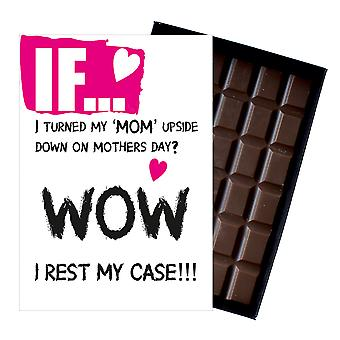 Mothers Day Gift For Mum Funny Rude Boxed Chocolate Bar For Mom Or Mummy IF114