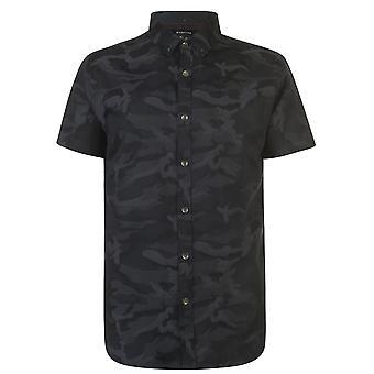 Firetrap Mens Short Sleeve Camo Casual Shirt Everyday