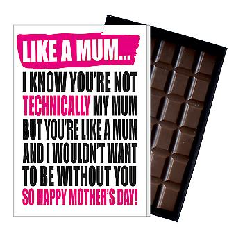 Funny Step Mother's Day Gift Boxed Chocolate Present Greeting Card For Mom Mum Mumy MIYF113