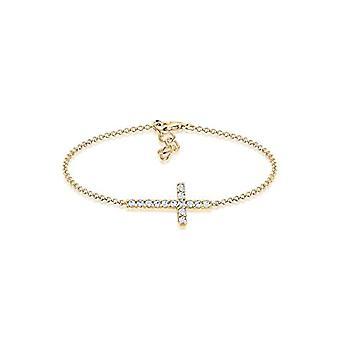 Elli Bracelet with Gold Plated Women's Cross - 16 cm