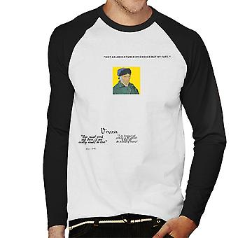 A.P.O.H Vincent van Gogh One Must Work And Dare Quote Men's Baseball Long Sleeved T-Shirt