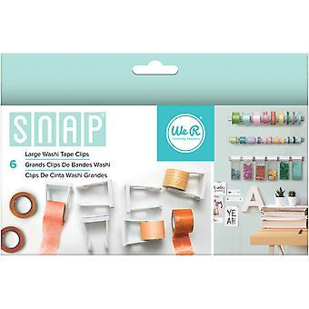 Snap Storage Washi Tape Clips 6/Pkg-Large 662590
