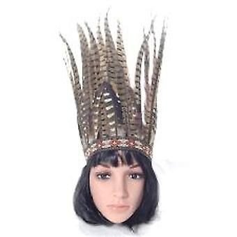 Feathered Headdress - Brown Feathers