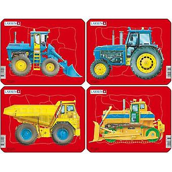 Larsen Tractors, Dump Truck And Bulldozer (Toys , Boardgames , Puzzles)