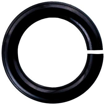 Anodized Aluminum Jumprings 3mm 100/Pkg-Black HPAA18A3-ONYX