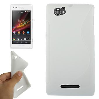Mobiele case TPU case voor Sony Xperia C1904 C1905 M wit