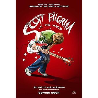 Scott Pilgrim vs verden filmen plakaten Skriv (27 x 40)