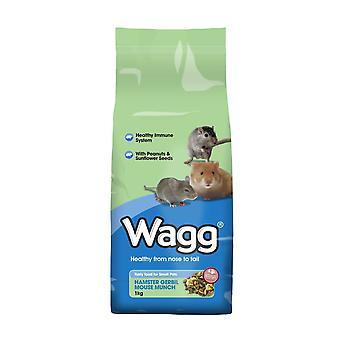 Wagg Hamster Gerbil mus Munch 1kg (pakke med 9)