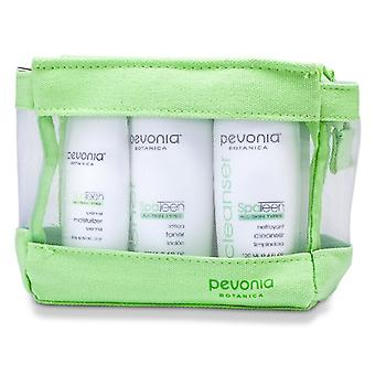 Pevonia Botanica SpaTeen All hud typer Kit: Cleanser 120ml + Toner 120ml + ansiktskräm 50ml 3st + 1bag