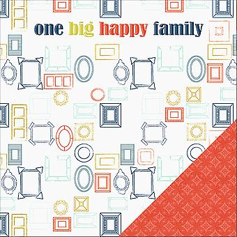 One Big Happy Family Double-Sided Cardstock 12