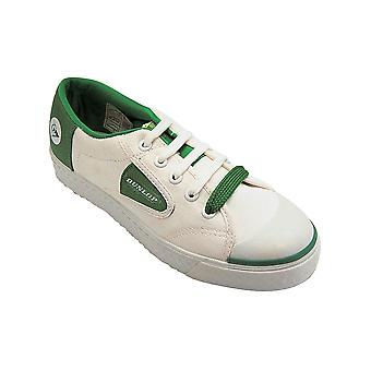 Dunlop DU1555 Unisex Green Flash Non Marking Trainers Textile Rubber Lace Up