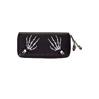 Banned Bad Reputation Skeleton Hands Purse
