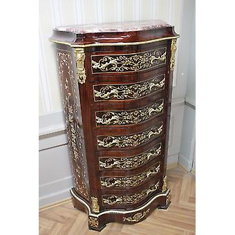 Chest of drawers baroque cabinet Louis xv antique style MkSm0036Rs2