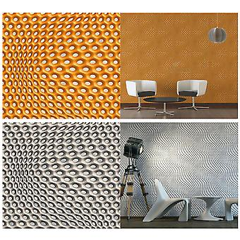 3D Wallpaper Retro Geometric Paste The Wall Textured Vinyl Wave Comb AS Creation