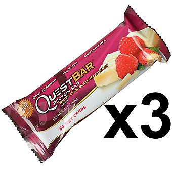 Quest Nutrition White Chocolate Raspberry Protein Bar Individual 3 x 60g Bars