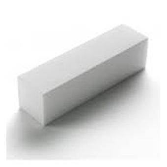 The White Sanding Block 100/100 4 sided - 2006701 + 100 Lint Free Nail Wipes by Boolavard® TM