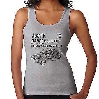 Haynes Workshop manuell 0164 Austin Allegro svart kvinner Vest