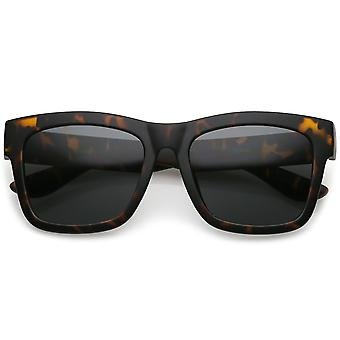 Lifestyle Super Thick Horn Rimmed Sunglasses With Thick Arms Square Lens 54mm