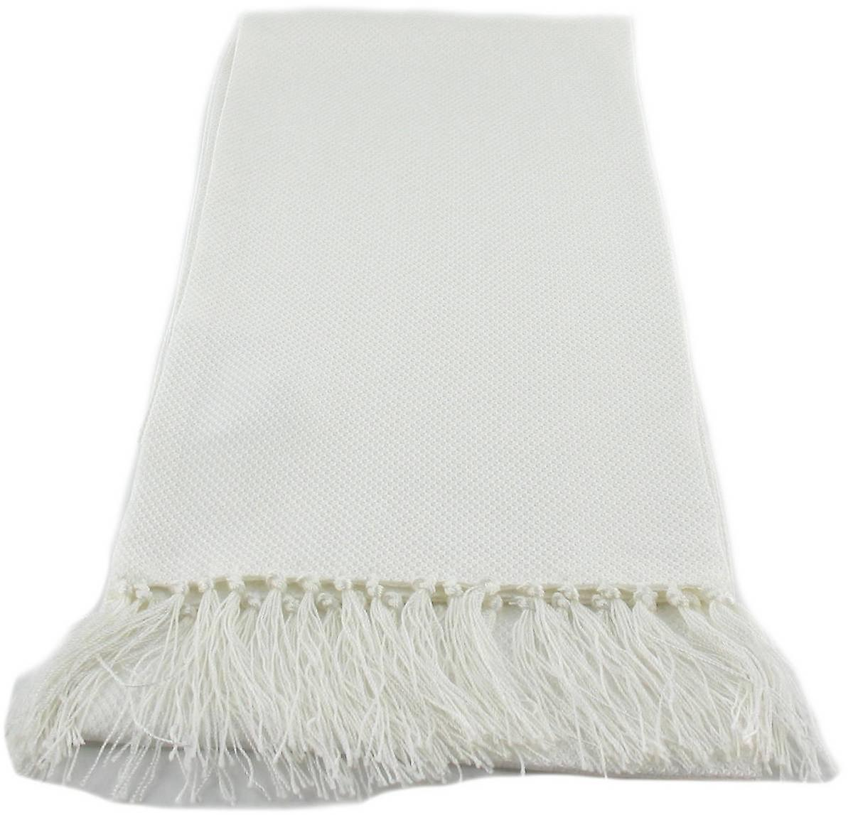 Michelsons of London Narrow Dress Silk Scarf - White