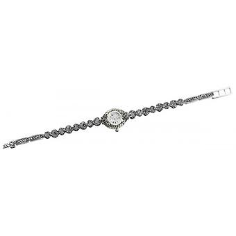 Woodford Sterling Silber Markasit Armband Quarzuhr - Silber