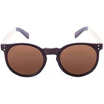 Ocean Lizard Wood Sunglasses - Dark Natural/White/Brown