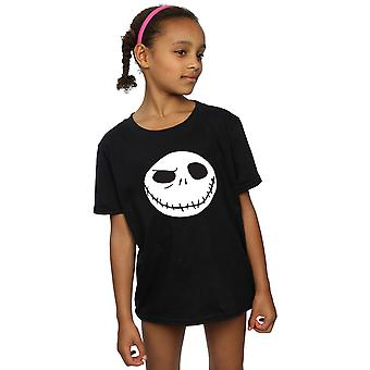 Disney Girls Nightmare Before Christmas Jack's Big Face T-Shirt