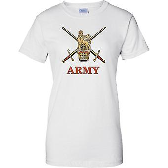 Britische Armee Insignia - Croassed Schwerter - Damen T Shirt