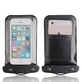 InventCase Waterproof Dustproof Bag Protective Case Cover for iPhone SE - Black