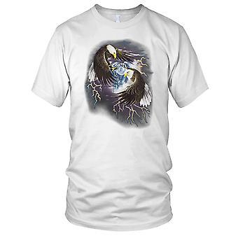 Eagles vechten - Biker Hog Chopper motorfiets motor Mens T Shirt