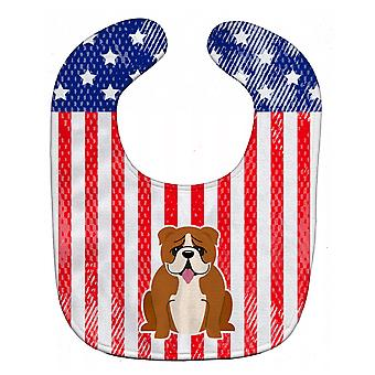 Carolines Treasures  BB3115BIB Patriotic USA English Bulldog Red White Baby Bib