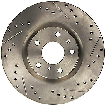 StopTech 227.42080L Select Sport Drilled and Slotted Brake Rotor; Front Left