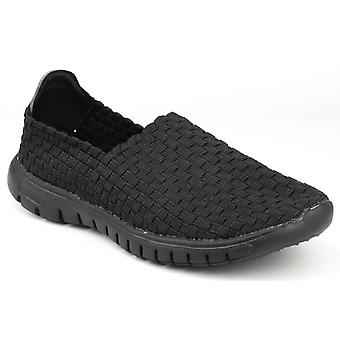 Divaz Womens/Ladies Raft Slip On Woven Shoes