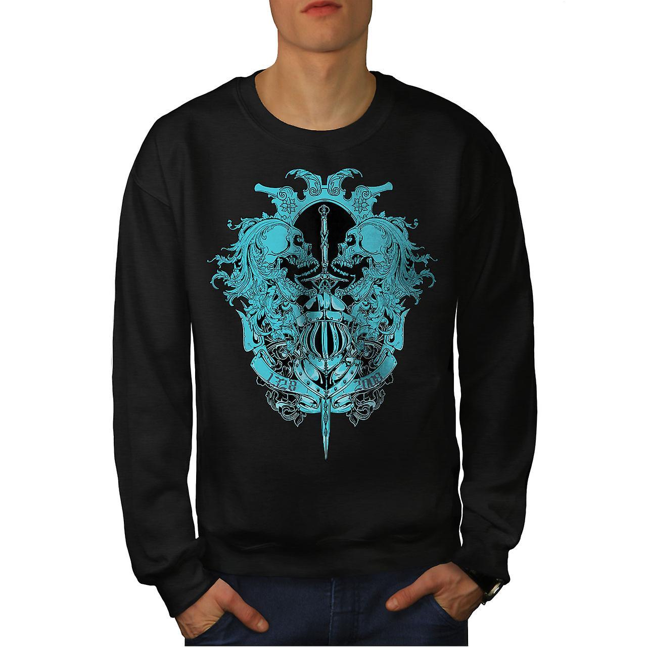 Ghost BlackSweatshirt hommes morts Vintage Skull | Wellcoda