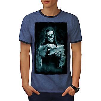 Dood Church Rock mannen Heather blauw / NavyRinger T-shirt | Wellcoda