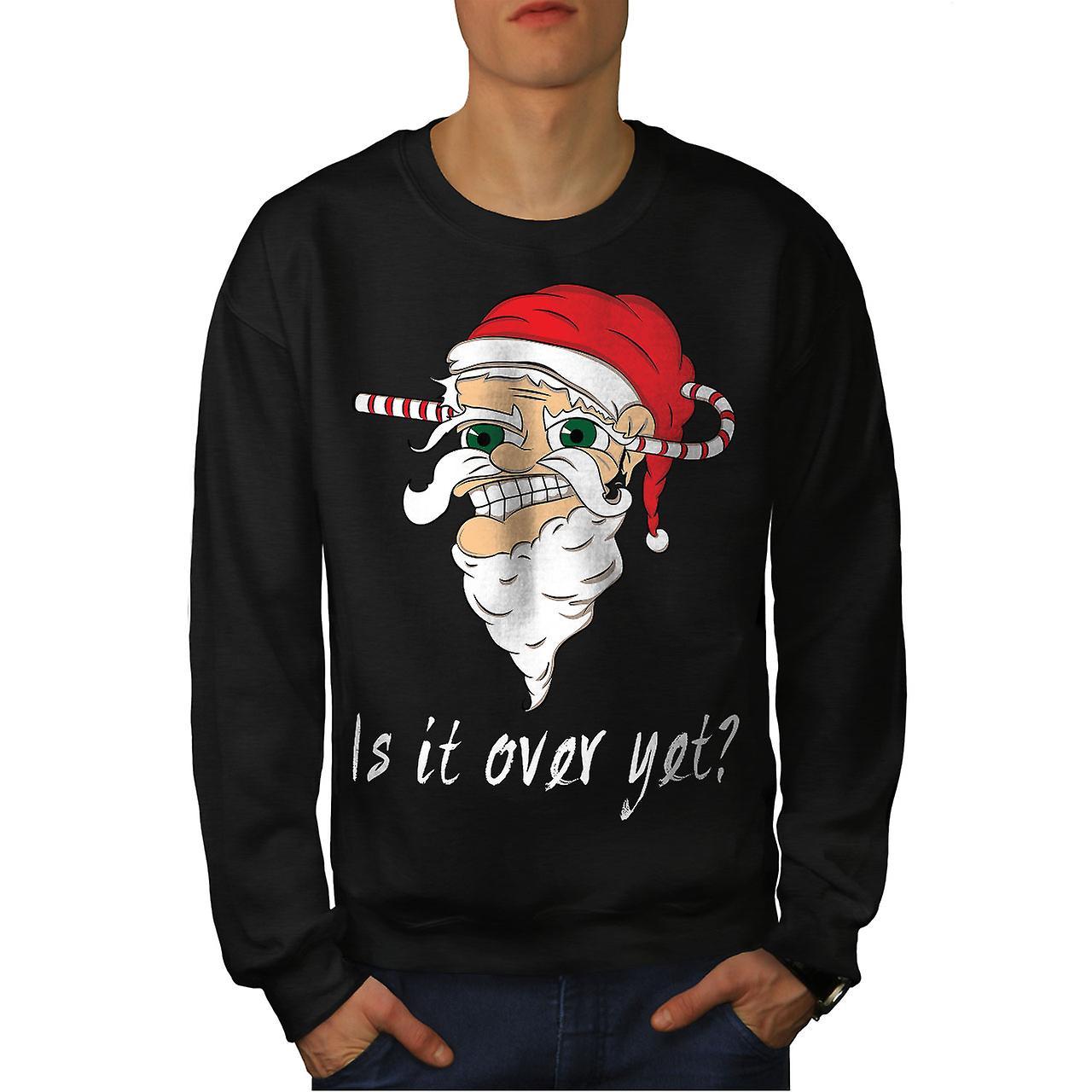 Plus encore Noël Santa hommes noirSweatshirt