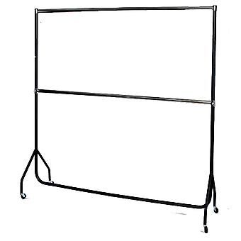 6ft Extended Black/Chrome Garment Rail,extension pieces from Caraselle