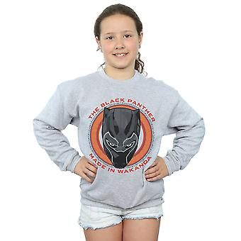 Marvel Girls Black Panther Made in Wakanda Red Sweatshirt