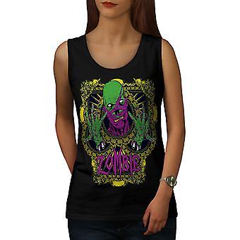 Green Chains Dead Zombie Women BlackTank Top | Wellcoda