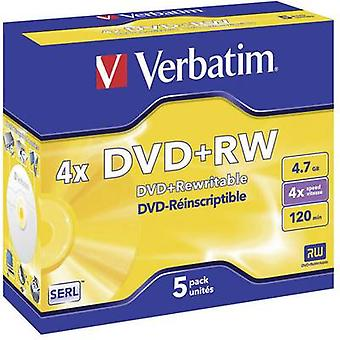 Blank DVD+RW 4.7 GB Verbatim 43229 5 pc(s) Jewel c