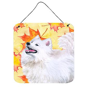 Carolines Treasures  BB9952DS66 Samoyed Fall Wall or Door Hanging Prints