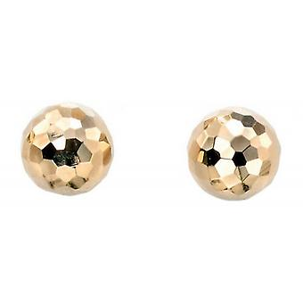 Elements Gold Textured Ball Stud Earrings - Gold