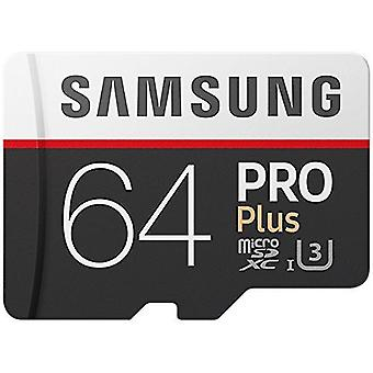 Samsung 64 GB 100MB/s Pro Plus Micro SD-Speicherkarte mit Adapter (MB-MD64GA/EU)
