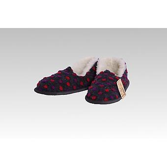 Mocassin wol dots antraciet 36/37