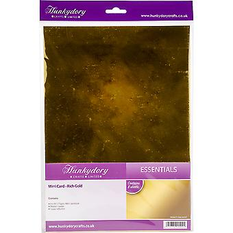Hunkydory Mirri Super-Reflective A4 Cardstock 8/Pkg-Rich Gold MCD21